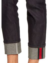 Gucci | Black Slim-leg Turn-up Jeans for Men | Lyst