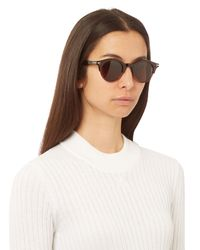 Céline - Brown Julia Bi-color Round-frame Sunglasses - Lyst