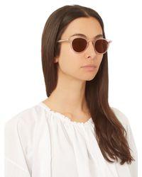 Céline - Brown Thin Charline Round-frame Sunglasses - Lyst