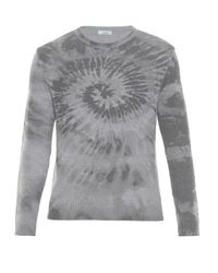 Valentino | Gray Tie-dye Wool And Cashmere-blend Sweater for Men | Lyst