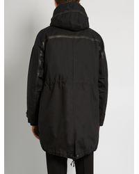 Valentino - Black Detachable Fur-trimmed Hooded Parka for Men - Lyst