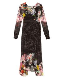 Preen By Thornton Bregazzi | Black Abigail Rainbow-print Satin-devoré Dress | Lyst