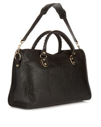 Balenciaga | Black Classic Metallic-edge City Leather Bag | Lyst