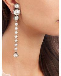 Lanvin - Metallic Maripol Single-drop Pearl-effect Earrings - Lyst