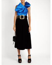 Saint Laurent - Black Carrée Patent-leather Waist Belt - Lyst