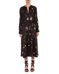 Isabel Marant - Black Olympe Cosmic-print Dress - Lyst