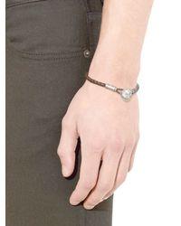 Bottega Veneta - Brown Intrecciato Leather Bracelet for Men - Lyst