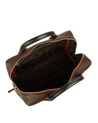 Paul Smith - Brown Colour-block Leather Piped Briefcase for Men - Lyst