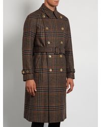 Gucci - Multicolor Double-breasted Tartan Trench Coat for Men - Lyst
