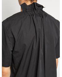 Björn Borg - Black V-neck Cotton-blend Poplin Top for Men - Lyst