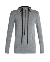 Falke - Gray Seamless Long-sleeved Hooded Performance Top - Lyst