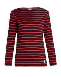 Orcival - Multicolor Breton-striped Cotton And Wool-blend Top - Lyst