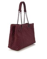 Bottega Veneta - Multicolor Intrecciato Embroidered Leather Bag - Lyst