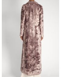 Rosie Assoulin - Multicolor Notch-lapel Velvet Coat - Lyst