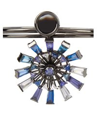 Eddie Borgo - Blue Apollo Gunmetal-plated Necklace - Lyst