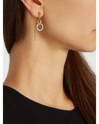 Charlotte Chesnais - Multicolor Swing Hook Diamond, White & Yellow-gold Earring - Lyst