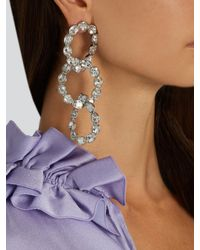 Sonia Rykiel - Metallic Crystal-embellished Earrings - Lyst
