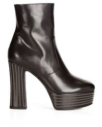 Saint Laurent - Black Candy Platform Ankle Boots - Lyst