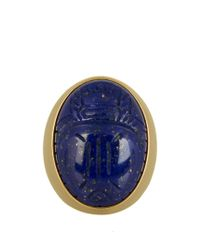 Aurelie Bidermann | Metallic Lapis Lazuli & Yellow-gold Ring | Lyst