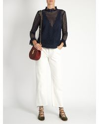 Sea - Blue Hole Punch Lace Top - Lyst