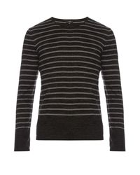 Vince | Multicolor Sporty Jaspé Striped Cotton-blend Sweater for Men | Lyst