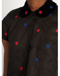 Jupe by Jackie - Black Hickory Short-sleeved Cotton-organdie Shirt - Lyst