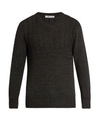 Inis Meáin | Gray Crew-neck Alpaca And Silk-blend Multi-knit Sweater for Men | Lyst