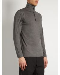 Mover | Gray Half-zip Merino-wool Base-layer Top for Men | Lyst
