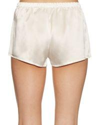 La Perla - Black Relaxed Silk-satin Shorts - Lyst