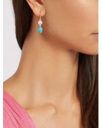 Irene Neuwirth - Multicolor Diamond, Pearl, Turquoise & Yellow-gold Earrings - Lyst