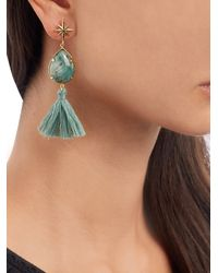 Marte Frisnes - Green Ziggy Earrings - Lyst