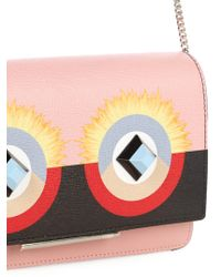 Fendi - Black Bag Bugs Leather Cross-body Bag - Lyst
