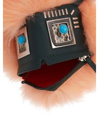 Fendi - Multicolor Hypnoteyes Fur, Snakeskin And Leather Bag Charm - Lyst