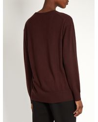 Raey | Blue V-neck Fine-knit Cashmere Sweater | Lyst