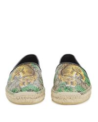 Gucci - Multicolor Alejandro Tiger-print Canvas Espadrilles for Men - Lyst