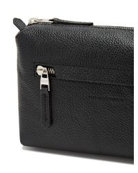 Alexander McQueen | Black Grained-leather Washbag for Men | Lyst