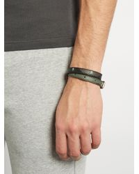 Alexander McQueen | Multicolor Wraparound Leather Bracelet for Men | Lyst