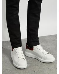 Alexander McQueen | White Raised-sole Low-top Leather Trainers for Men | Lyst