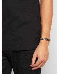 Givenchy - Black Metal-chain Leather Bracelet for Men - Lyst