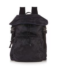 Valentino - Blue Camouflage-print Nylon Backpack for Men - Lyst