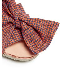 Brother Vellies | Multicolor Burkina Checked-bow Leather Slides | Lyst