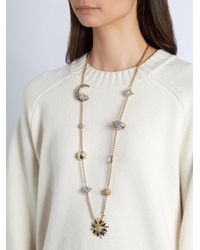 Roberto Cavalli - Metallic Planet Charms Embellished Necklace - Lyst