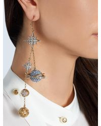 Roberto Cavalli - Metallic Planet Charms Embellished Drop Earrings - Lyst