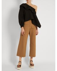 Rachel Comey - Brown Bishop High-rise Wide-leg Cotton-blend Trousers - Lyst