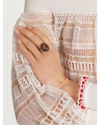 Alexander McQueen - Metallic Crystal-embellished Ring - Lyst