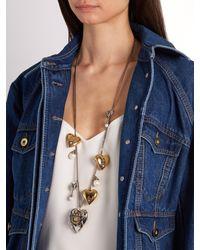 Alexander McQueen - Metallic Heart Locket Necklace - Lyst
