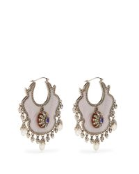 Alexander McQueen - Pink Crystal And Pearl-embellished Earrings - Lyst