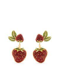 Dolce & Gabbana   Red Strawberry Drop Clip-on Earrings   Lyst