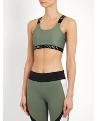 Charli Cohen - Green Cc Racer-back Performance Bra - Lyst
