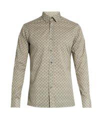 Lanvin - Multicolor Tile-print Cotton Shirt for Men - Lyst